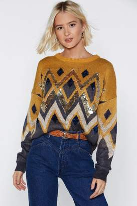 Nasty Gal Sequin Your Fortune Knit Sweater