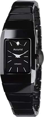 Accurist Women's Quartz Watch with Black Dial Analogue Display and Black Ceramic Bracelet LB1652.01