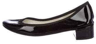 Repetto Patent Leather Round-Toe Ballet Pumps