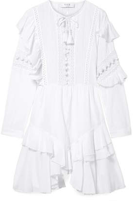 Sea Weatherly Crochet-paneled Cotton-blend Dress - White