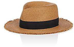 Eric Javits MEN'S PACKABLE DISTRESSED STRAW HAT - BEIGE/TAN SIZE 73/8