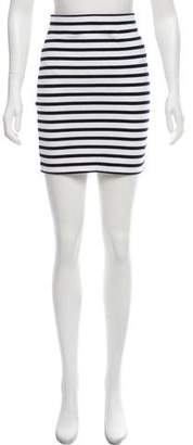 Alexander Wang Bodycon Striped Mini Skirt