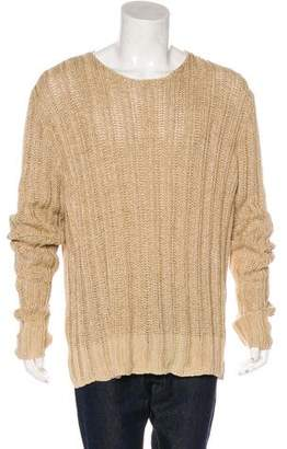 John Varvatos Linen-Blend Knit Sweater
