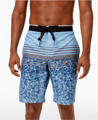 "Calvin Klein Swim Men's Pattern-Blocked Elastic Waist Board Shorts 9"" $52 thestylecure.com"