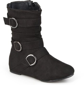 Brinley Kids Girl's Buckle Accent Suede Boots
