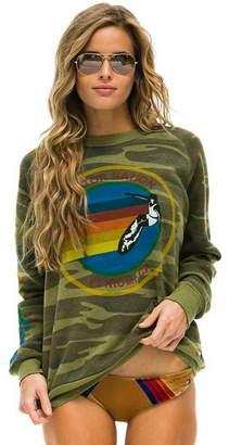 Aviator Nation Camo Crew Sweatshirt