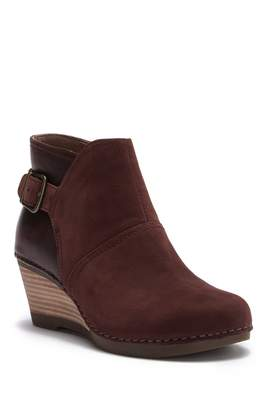 Dansko Shirley Nubuck Leather Wedge Bootie