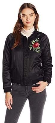 Velvet by Graham & Spencer Women's Embroidered Bomber Jacket
