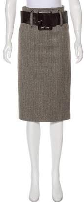 Robert Rodriguez Knee-Length Wool Skirt