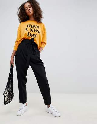 Asos Design DESIGN high waist balloon tapered trousers