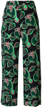 Aspesi printed cropped trousers