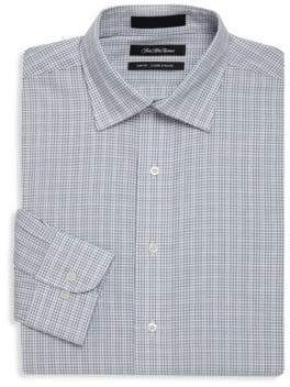 Saks Fifth Avenue Windowpane Cotton Check Dress Shirt
