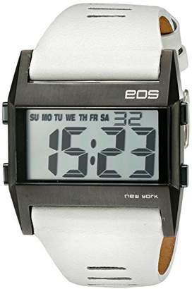 EOS New York Unisex 260SWHT Nocturne Tre Large Digital Display White Watch