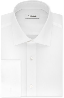 Calvin Klein STEEL Men's Classic-Fit Non-Iron Performance French Cuff Dress Shirt $75 thestylecure.com