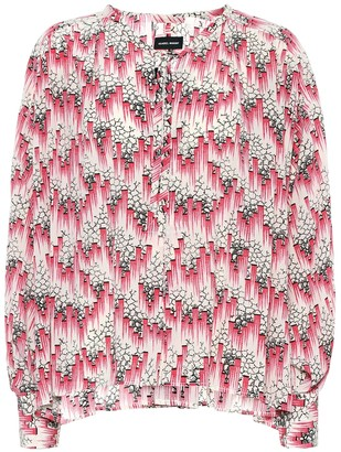Isabel Marant Amba printed silk-blend crepe blouse