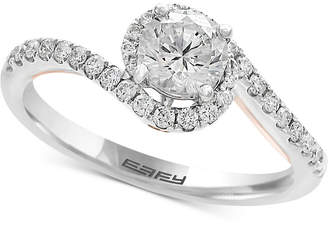 Effy Infinite Love Diamond Twist Engagement Ring (1 ct. t.w.) in 18k White and Rose Gold