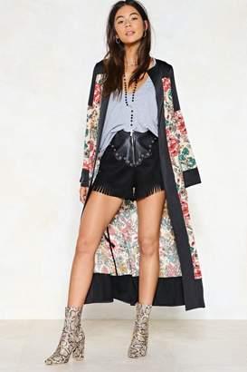 Nasty Gal Good Natured Floral Kimono