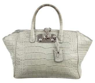 Pre Owned At Therealreal Vbh Crocodile Brera 32 Handle Bag