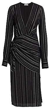 Altuzarra Women's Sparks Silk-Blend Wrap Midi Dress