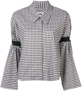 MM6 MAISON MARGIELA gingham-print shirt
