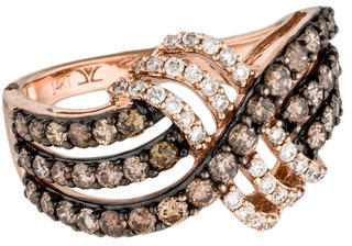 Le Vian 14K Diamond Crossover Band $1,045 thestylecure.com