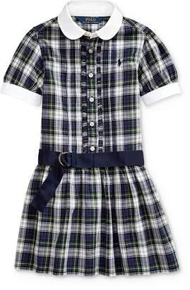 Ralph Lauren Girls' Plaid Shirt Dress - Little Kid
