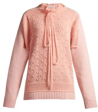 J.W.Anderson Panelled Lambswool Blend Sweater - Womens - Pink