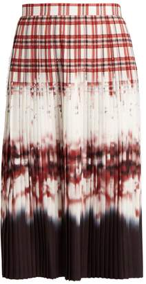 Altuzarra Lucille check-dégradé pleated skirt