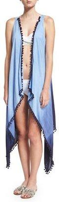 Ella Moss Swim Tribal Romance Ombre-Printed Coverup, Blue $98 thestylecure.com