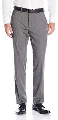 Kenneth Cole Reaction Men's Tic Weave Flat-Front Slim-Fit Dress Pant