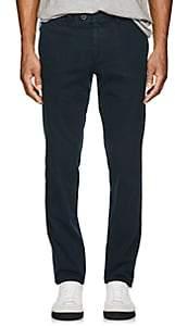 Hiltl Men's Stretch-Cotton Flat-Front Trousers-Turquoise, Aqua Size 36
