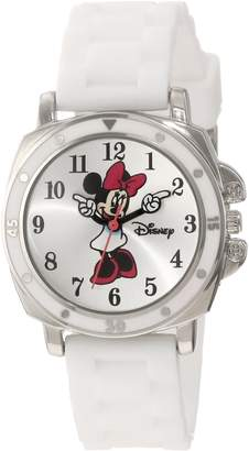 Disney Kids' MN1064 Minnie Mouse Rubber Strap Watch