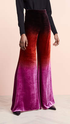 Cushnie High Waisted Wide Leg Pants