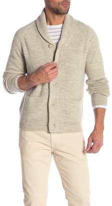 Save Khaki Shawl Collar Knit Cardigan