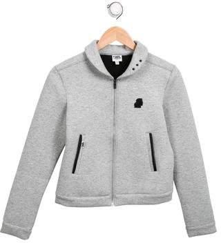 Karl Lagerfeld Boys' Shawl Collar Zip-Up Jacket