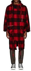 Chapter MEN'S BUFFALO-CHECKED WOOL-BLEND COAT-RED SIZE L
