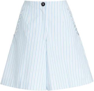 DELPOZO Striped Cotton Bermuda Short