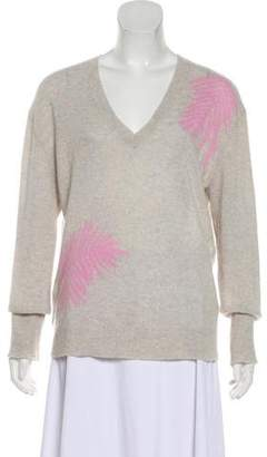 360 Cashmere Embroidered V-Neck Sweater