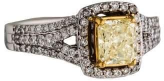 Ring 14K Diamond Bi-Color Cocktail