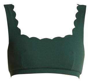 Palm Springs scallop-edged bikini top