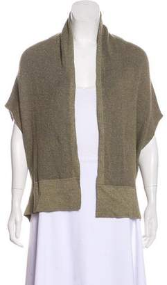 Magaschoni Metallic-Accented Sleeveless Cardigan