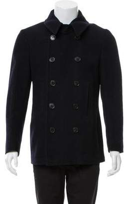 Dries Van Noten Chevron Double-Breasted Peacoat