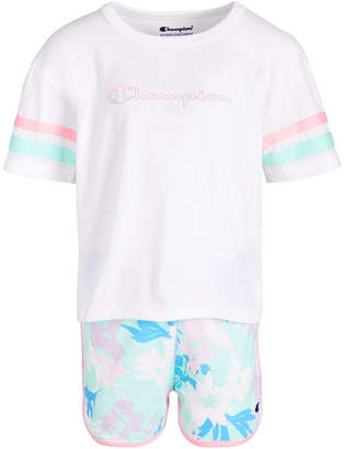 7438b7c9 Champion Toddler Girls 2-Pc. T-Shirt & Shorts Set