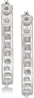 Diamond Fascination Diamond Accent Crystallized Diamond Dust Hoop Earrings