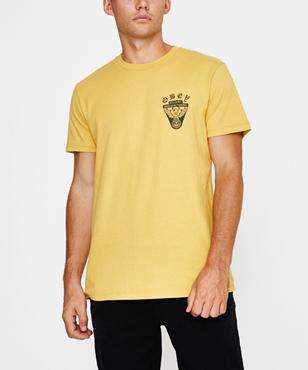 Obey Eagle Shield Short Sleeve T-shirt Dusty Yellow