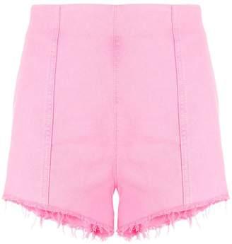 MSGM high-waisted denim short shorts
