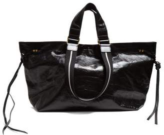 Isabel Marant - Wardy Patent Leather Tote Bag - Womens - Black