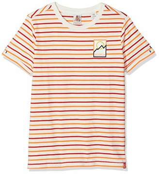 Scotch & Soda Shrunk Boy's Regular Fit Short Sleeve Tee in Solids and Stripes T-Shirt,(Size: 12)
