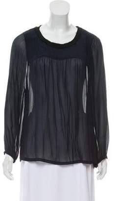 Etoile Isabel Marant Silk Long Sleeve Blouse