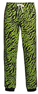Gucci Men's Technical Jersey Jogging Pant with Animal Print